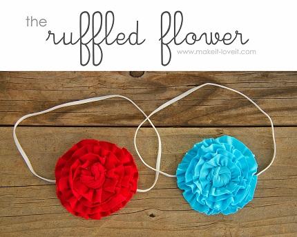 Tutorial: Ruffled flower embellishment