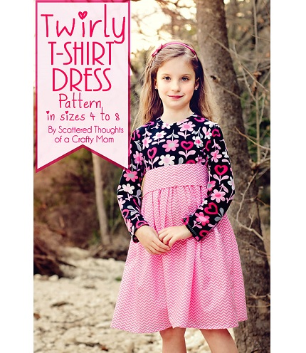 Free pattern: Girl's Twirly T-Shirt Dress