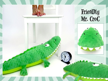 Tutorial: Minky crocodile softie