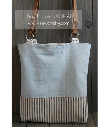 Tutorial use fabric tabs to attach purse handles sewing for Handles for bags craft