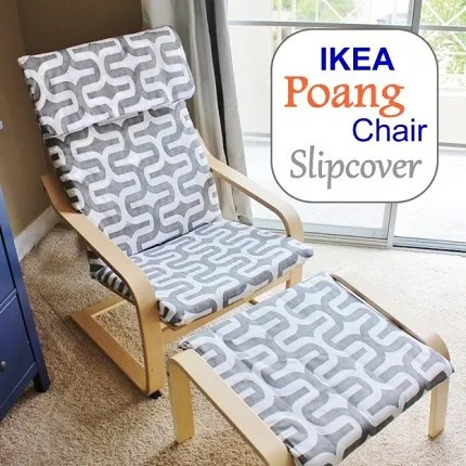 Tutorial: Slipcover for an IKEA Poang chair and ottoman