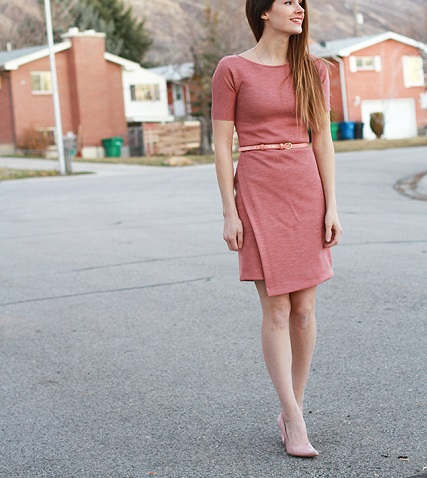 Tutorial: Asymmetrical knit sheath dress