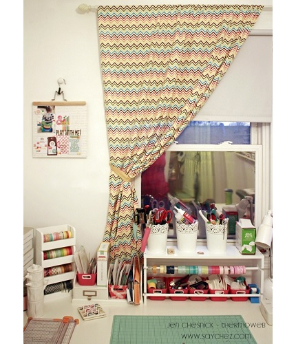 Tutorial: No-sew curtains in 15 minutes