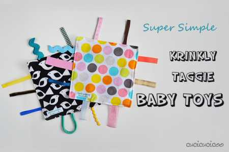 Tutorial: Crinkle taggie toy