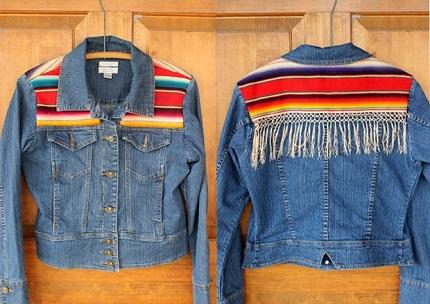 Tutorial: Vintage serape jean jacket