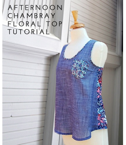 Tutorial: Afternoon Chambray Floral Top