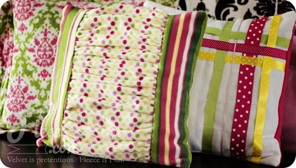 Tutorial: Ruched throw pillow