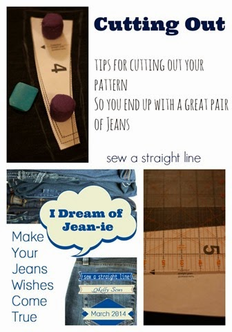 Tips for sewing on denim and cutting jeans pattern pieces