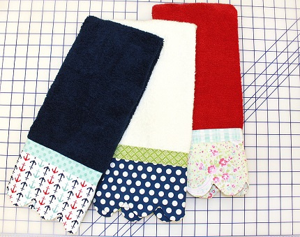 Tutorial: Scallop edge hand towels