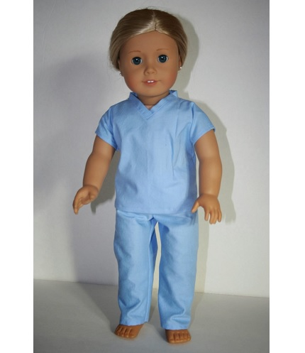 Free pattern: Hospital scrubs for an American Girl doll