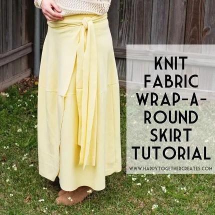 Tutorial: Knit fabric wrap skirt
