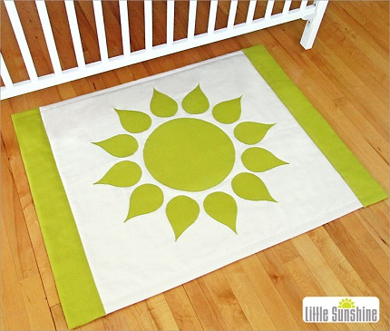 Tutorial: Little Sunshine appliqued accent rug