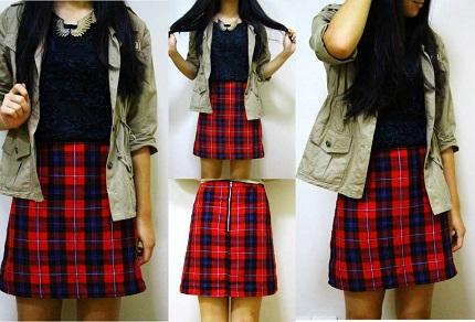 Tutorial A Line Tartan Skirt