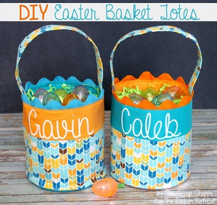 Tutorial: Easter basket tote with ric rac trim