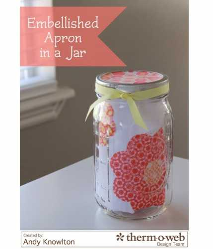 Tutorial: Embellished apron in a jar