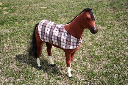 Tutorial: Reversible horse blanket for an American Girl horse