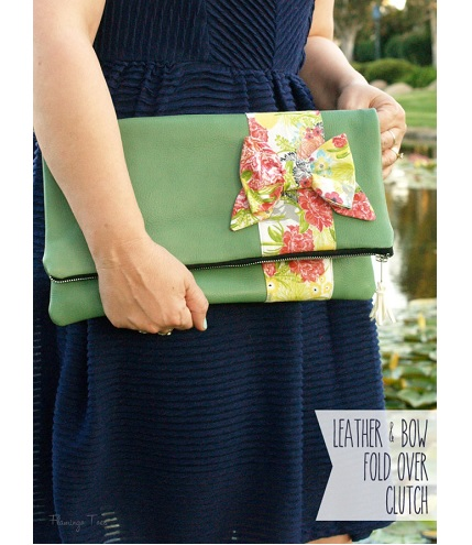 Tutorial: Leather and bow fold over clutch