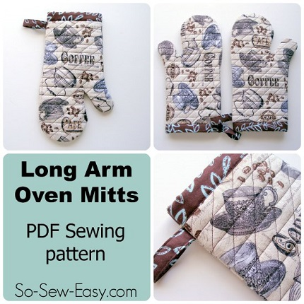 Free pattern: Long arm oven mitts