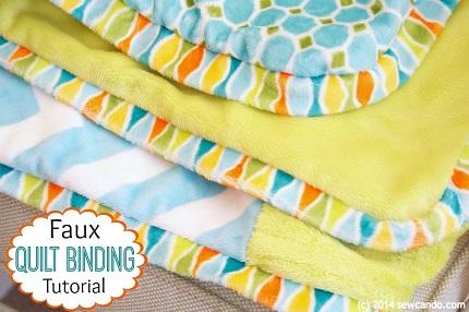 Tutorial: Faux blanket binding