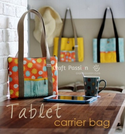 Free pattern: Tablet carrier bag
