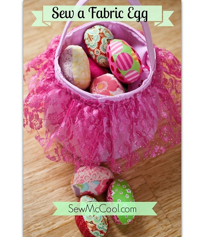Free pattern: Fabric Easter eggs