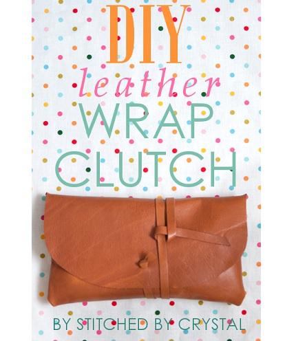 Tutorial: Leather wrap clutch