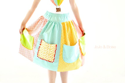 Tutorial: Pocket Full of Posies skirt for girls