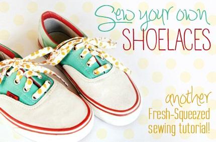 Tutorial: Fabric shoe laces