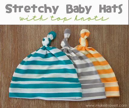 Free pattern: Knot top baby hats – Sewing
