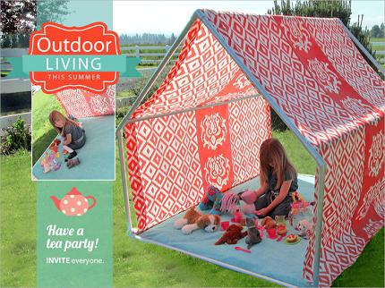 Tutorial DIY outdoor playhouse tent & Tutorial: DIY outdoor playhouse tent u2013 Sewing