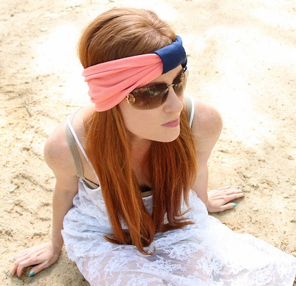 Tutorial: Color block knotted headband