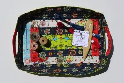 Tutorial: Quilted fabric tray in two sizes