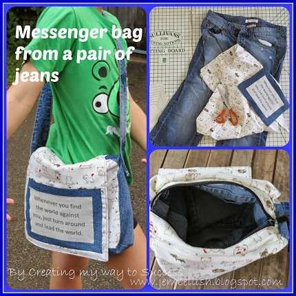 Tutorial: Make a messenger bag from old jeans