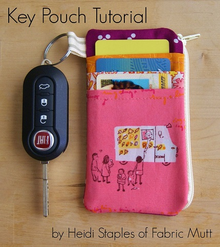 Tutorial: Zippered keychain pouch with credit card pockets