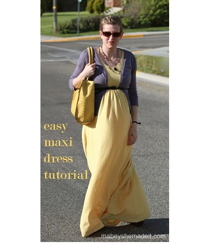 Tutorial Easy Maxi Dress From A Jersey Knit Sheet Sewing