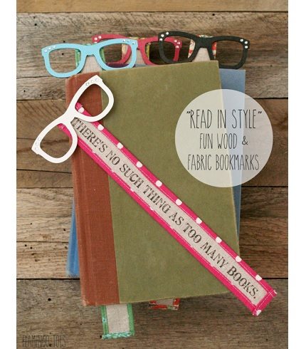 """Tutorial: """"Read in Style"""" wood and fabric bookmarks"""