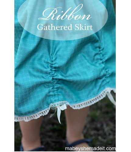 Tutorial: Little girl's ribbon pickup skirt