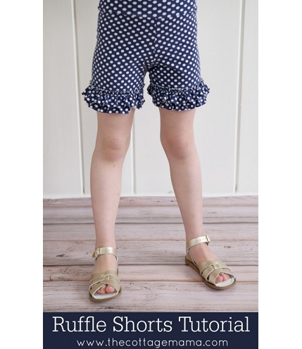Tutorial: Girl legging shorts with ruffles