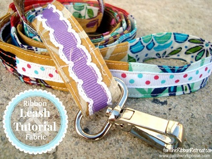 Scrap-Ribbon-and-Fabric-Dog-Leash