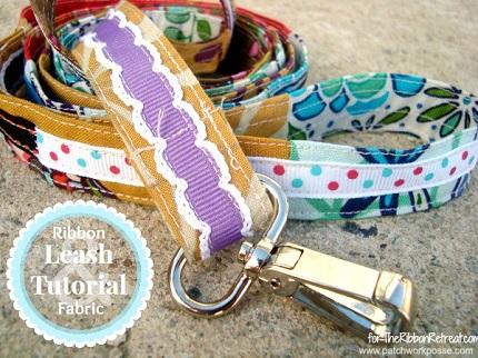 Scrap-Ribbon-and-Fabric-Dog-Leash