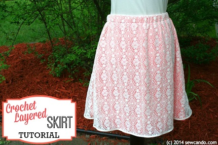 Tutorial: Layered crochet skirt