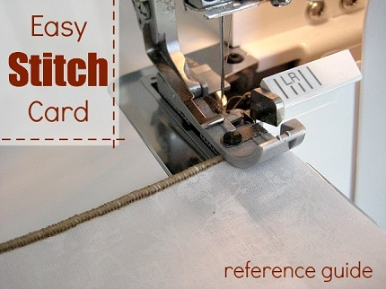 Tutorial: Sewing machine stitch reference cards