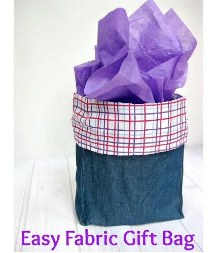 Tutorial: Easy fabric gift bag