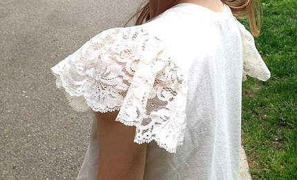 Tutorial: Lace flutter sleeve