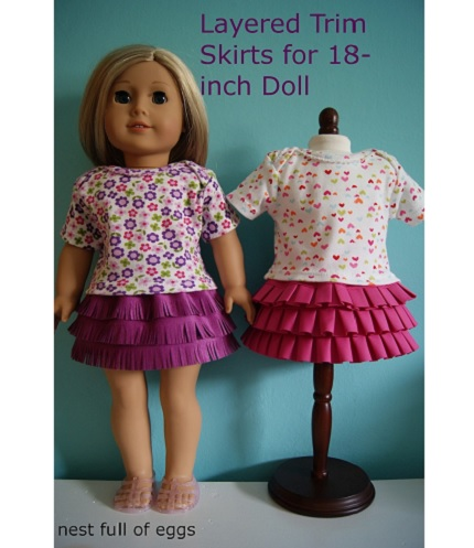 Tutorial: Doll's layered trims skirt