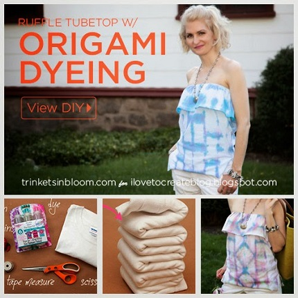 Tutorial: Origami Dyed Ruffled Tube Top