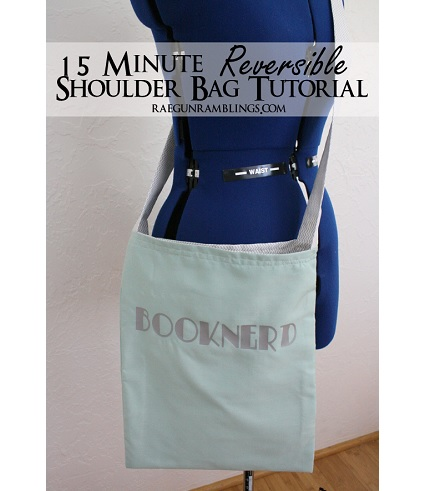 Tutorial: 15-minute reversible tote bag