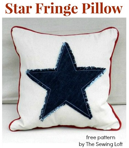Tutorial: Americana fringed star pillow