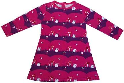 Free Pattern Little Girl S Long Sleeved A Line Dress Sewing