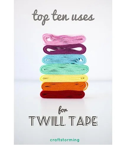 10 uses for twill tape in your sewing projects